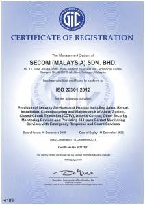 5. Certificate of Registration (GIC) ISO 22301 2012-1